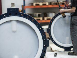 ChemValve-Schmid Valvole a farfalla con liner in PTFE e PTFE modificato Valvole di non ritorno, valvole di ritegno e valvole di ritegno a doppio disco Valvole speciali